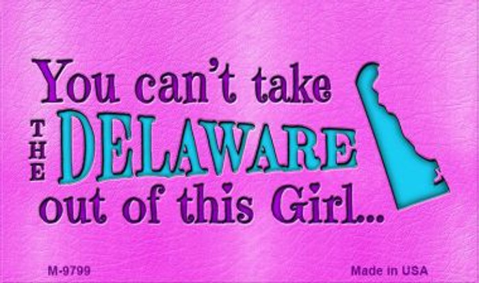 Delaware Girl Novelty Wholesale Metal Magnet M-9799