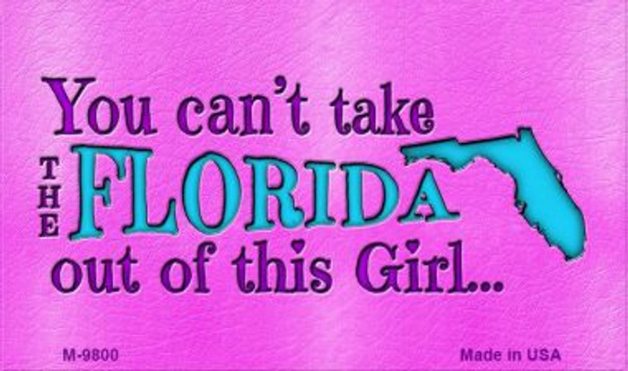 Florida Girl Novelty Wholesale Metal Magnet M-9800