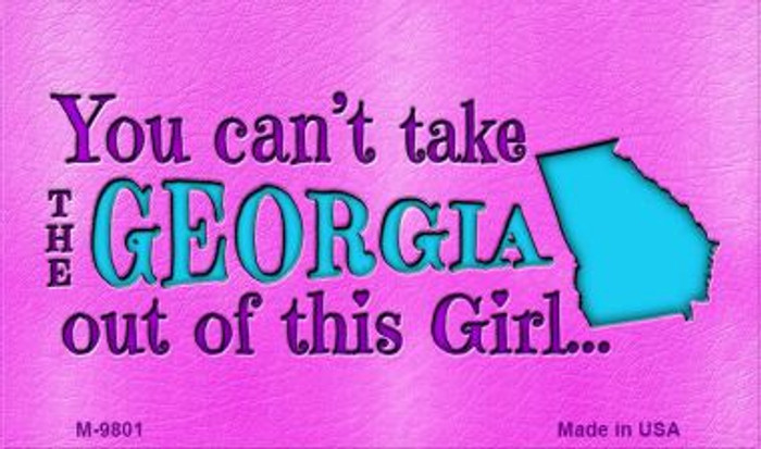Georgia Girl Novelty Wholesale Metal Magnet M-9801