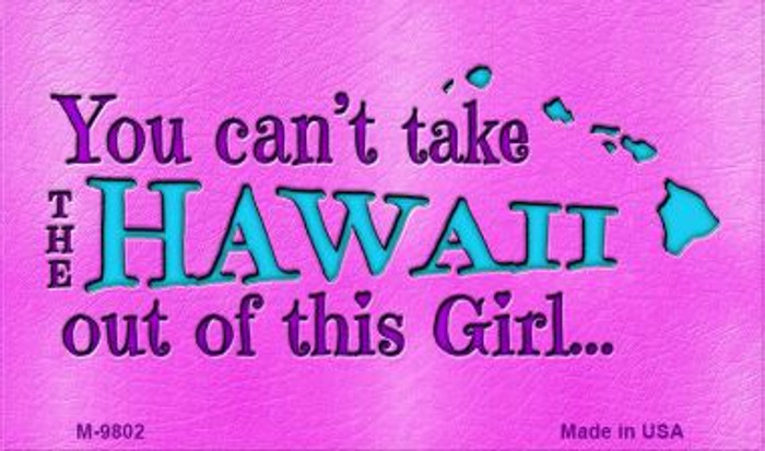 Hawaii Girl Novelty Wholesale Metal Magnet M-9802