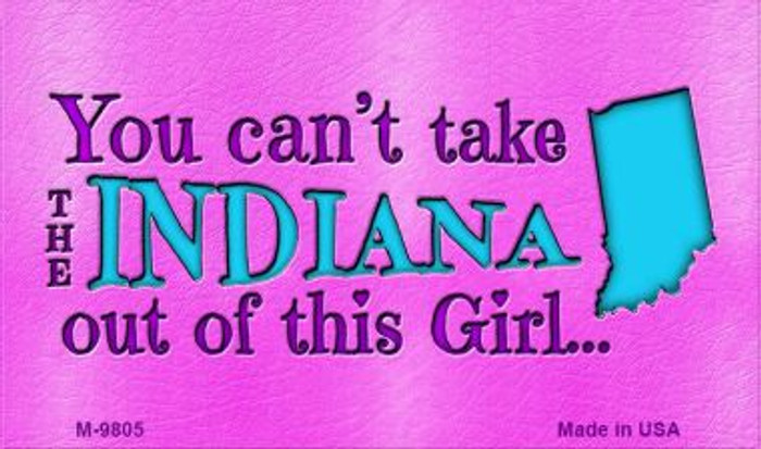 Indiana Girl Novelty Wholesale Metal Magnet M-9805