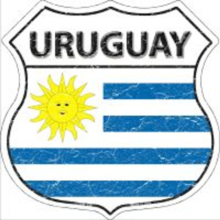 Uruguay Flag Highway Shield Novelty Metal Magnet