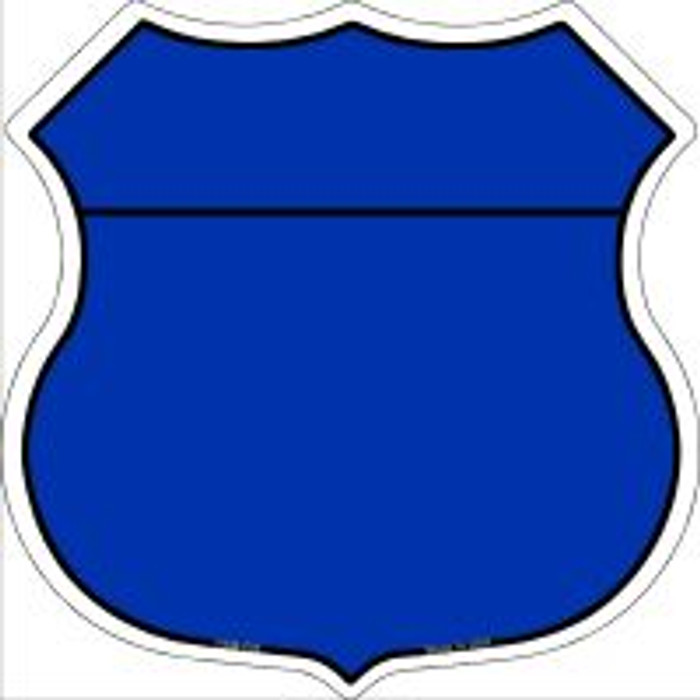 Blue|Black Plain Highway Shield Novelty Metal Magnet