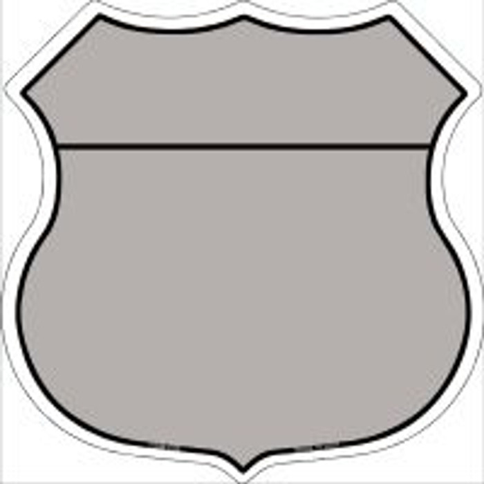 Gray|Black Plain Highway Shield Novelty Metal Magnet