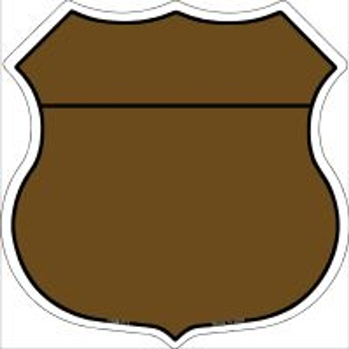 Brown|Black Plain Highway Shield Novelty Metal Magnet