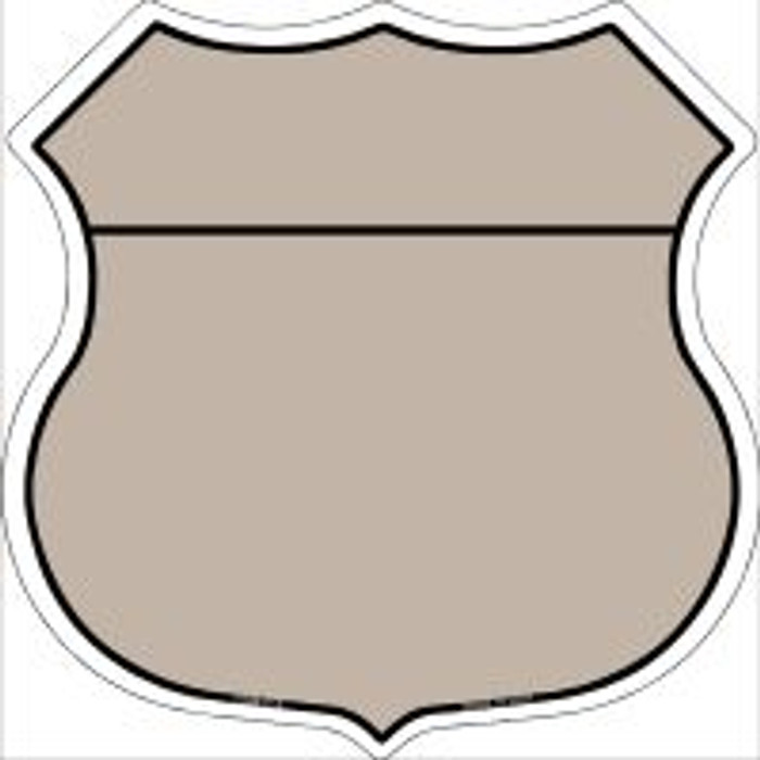 Tan|Black Plain Highway Shield Novelty Metal Magnet