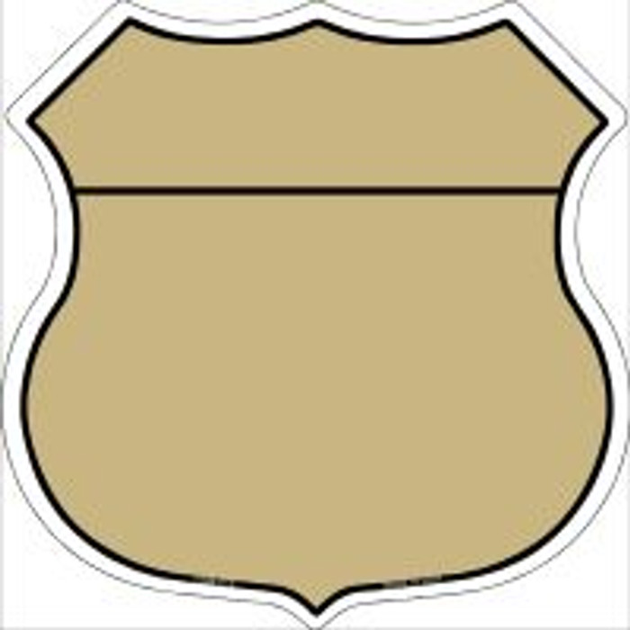 Gold|Black Plain Highway Shield Novelty Metal Magnet