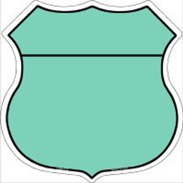 Mint|Black Plain Highway Shield Novelty Metal Magnet