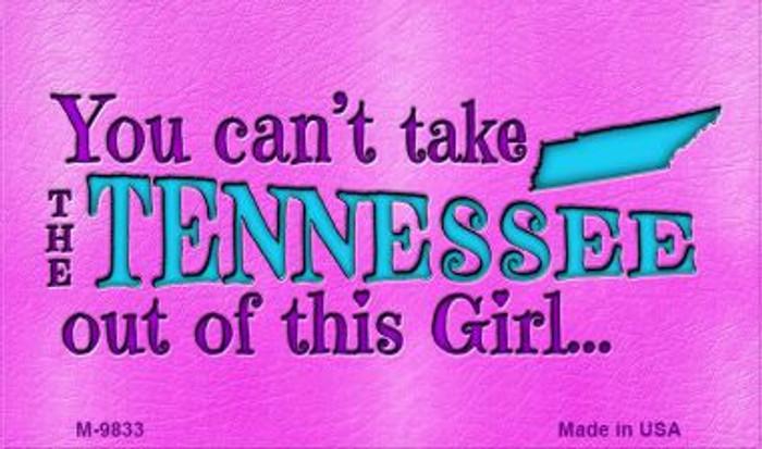 Tennessee Girl Novelty Wholesale Metal Magnet M-9833