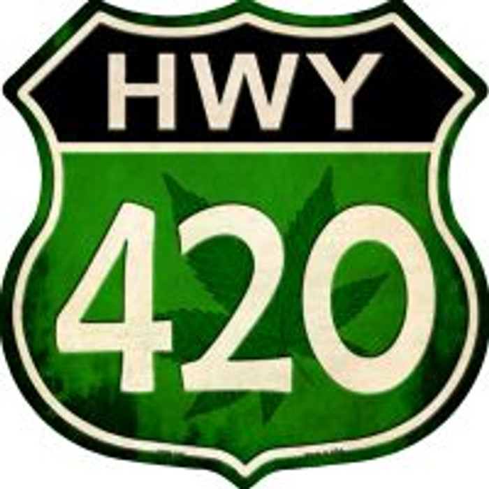 Hwy 420 Highway Shield Novelty Metal Magnet