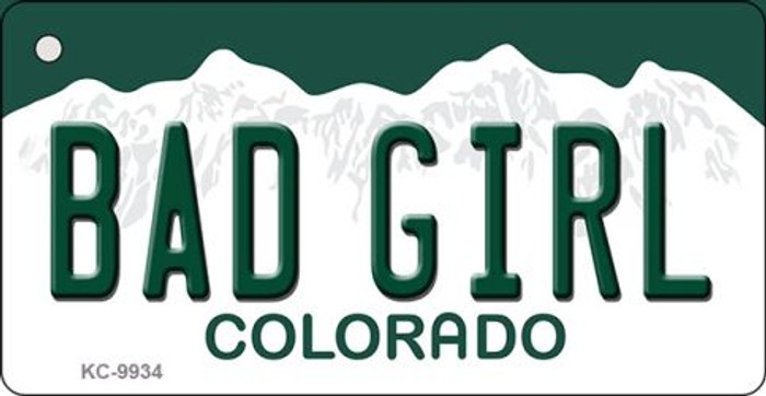 Bad Girl Colorado Background Wholesale Metal Novelty Key Chain