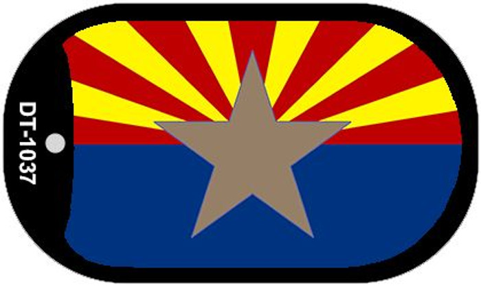 "AZ Big Star State Flag Dog Tag Kit 2"" Wholesale Metal Novelty Necklace"