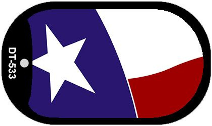 "Texas State Flag Dog Tag Kit 2"" Wholesale Metal Novelty Necklace"
