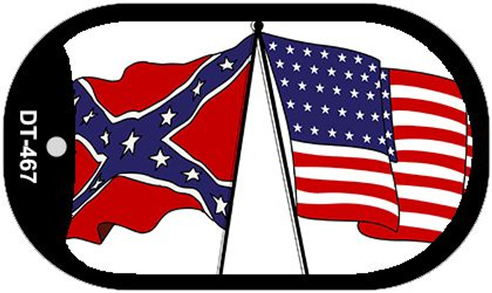 """Confederate American Flag Dog Tag Kit 2"""" Wholesale Metal Novelty Necklace"""