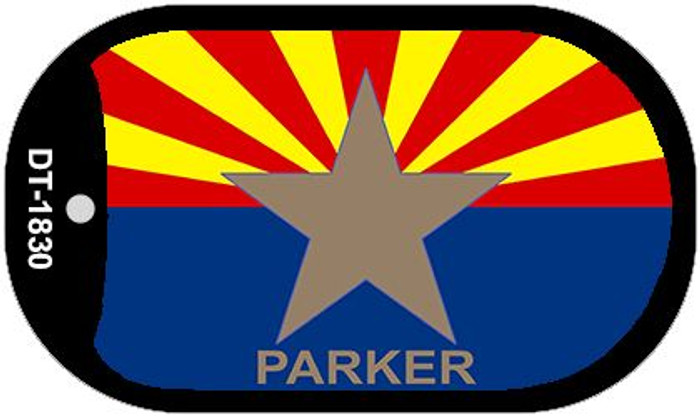 "Parker Arizona State Flag Dog Tag Kit 2"" Wholesale Metal Novelty Necklace"