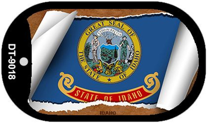 "Idaho State Flag Scroll Dog Tag Kit 2"" Wholesale Metal Novelty Necklace"