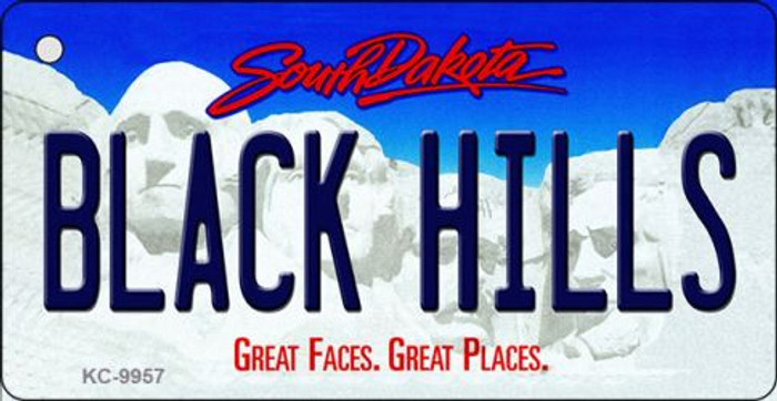 Black Hills South Dakota Background Metal Novelty Wholesale Key Chain