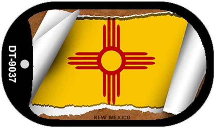 "New Mexico State Flag Scroll Dog Tag Kit 2"" Wholesale Metal Novelty Necklace"