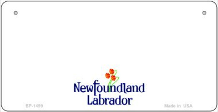 New Foundland Labrador Novelty State Background Wholesale Bicycle License Plate