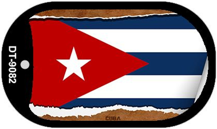 "Cuba Country Flag Scroll Dog Tag Kit 2"" Wholesale Metal Novelty Necklace"