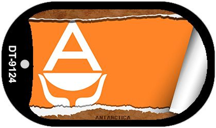 "Antarctica Country Flag Scroll Dog Tag Kit 2"" Wholesale Metal Novelty Necklace"