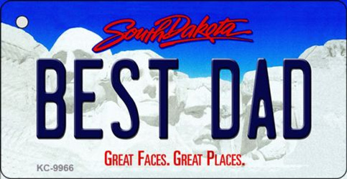 Best Dad South Dakota Background Metal Novelty Wholesale Key Chain