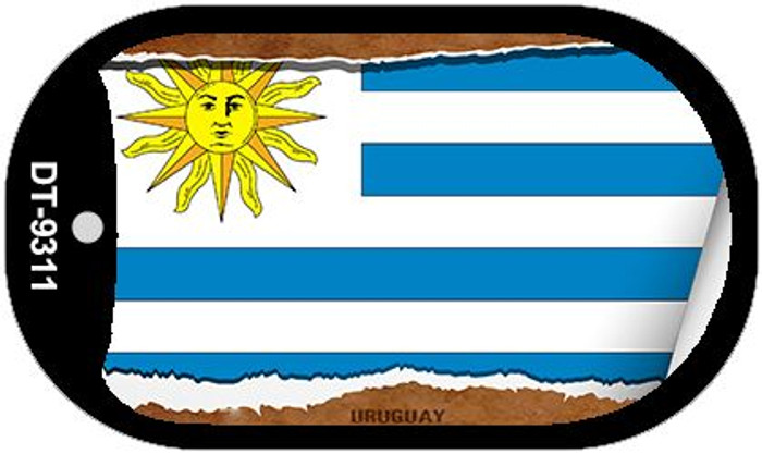 "Uruguay Flag Country Flag Scroll Dog Tag Kit 2"" Wholesale Metal Novelty Necklace"