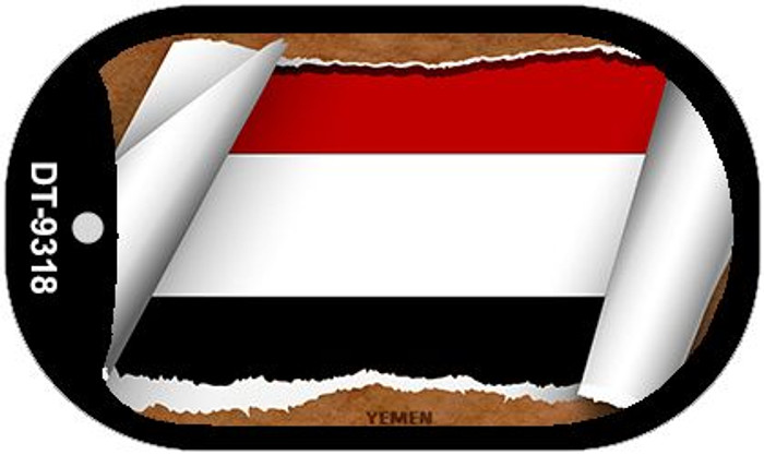 """Yemen Flag Country Flag Scroll Dog Tag Kit 2"""" Wholesale Metal Novelty Necklace"""