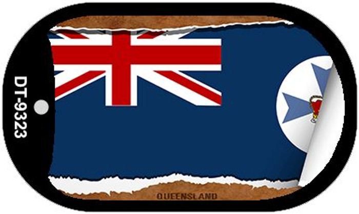 """Queensland Flag Country Flag Scroll Dog Tag Kit 2"""" Wholesale Metal Novelty Necklace"""