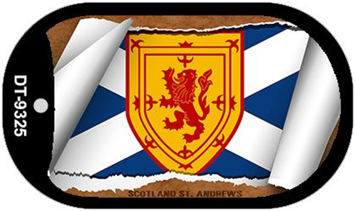 """Scotland St. Andrew's Flag Country Flag Scroll Dog Tag Kit 2"""" Wholesale Metal Novelty Necklace"""