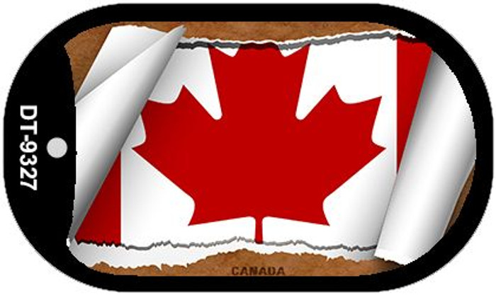 """Canada Flag Country Flag Scroll Dog Tag Kit 2"""" Wholesale Metal Novelty Necklace"""