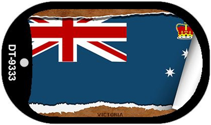"""Victoria Flag Country Flag Scroll Dog Tag Kit 2"""" Wholesale Metal Novelty Necklace"""