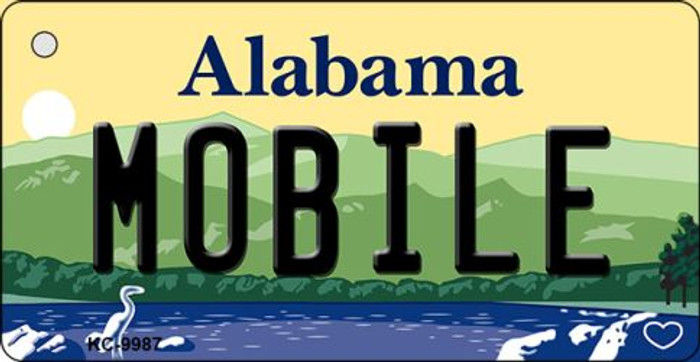 Mobile Alabama Background Metal Novelty Wholesale Key Chain