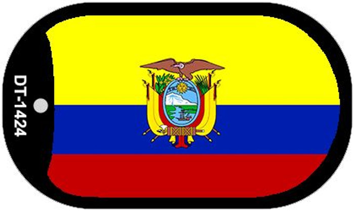 "Ecuador Flag Country Flag Dog Tag Kit 2"" Wholesale Metal Novelty Necklace"