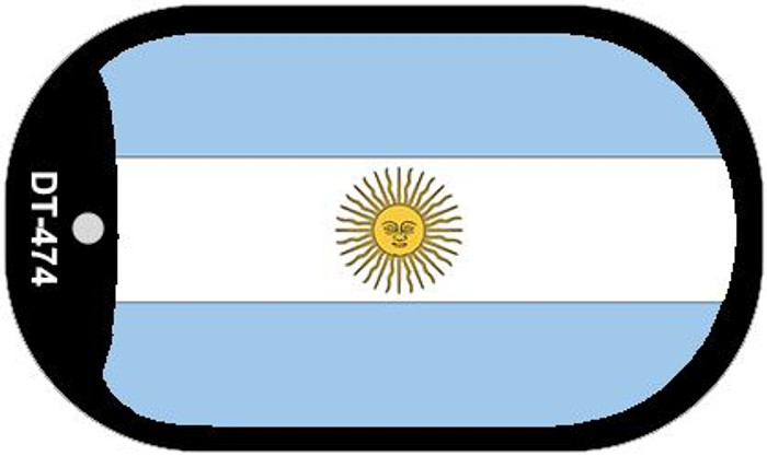 "Argentina Flag Country Flag Dog Tag Kit 2"" Wholesale Metal Novelty Necklace"