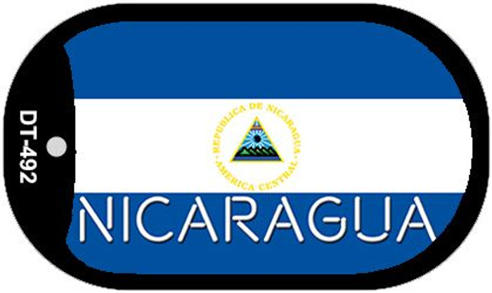 "Nicaragua Flag Country Flag Dog Tag Kit 2"" Wholesale Metal Novelty Necklace"