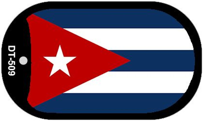 "Cuba Flag Country Flag Dog Tag Kit 2"" Wholesale Metal Novelty Necklace"