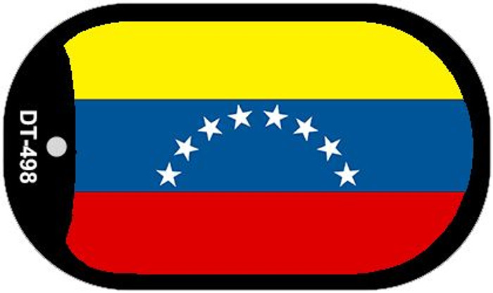 "Venezuela Flag Country Flag Dog Tag Kit 2"" Wholesale Metal Novelty Necklace"