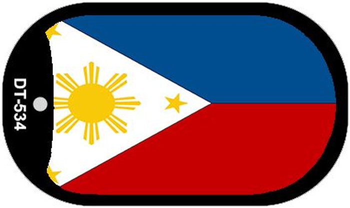 "Philippines Flag Country Flag Dog Tag Kit 2"" Wholesale Metal Novelty Necklace"