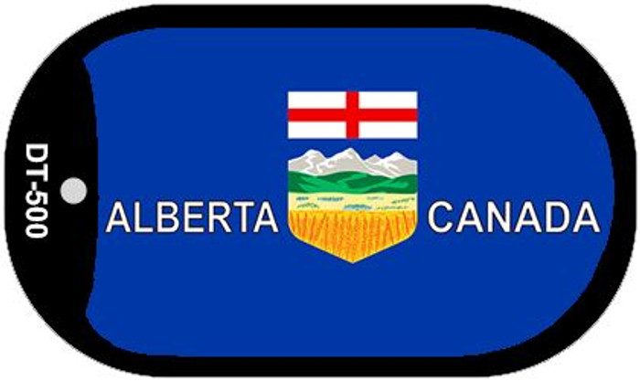 "Alberta Canada Flag Country Flag Dog Tag Kit 2"" Wholesale Metal Novelty Necklace"