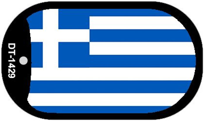 "Greece Flag Country Flag Dog Tag Kit 2"" Wholesale Metal Novelty Necklace"