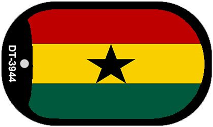 "Ghana Flag Country Flag Dog Tag Kit 2"" Wholesale Metal Novelty Necklace"