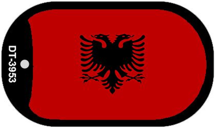 "Albania Flag Country Flag Dog Tag Kit 2"" Wholesale Metal Novelty Necklace"