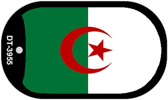 "Algeria Flag Country Flag Dog Tag Kit 2"" Wholesale Metal Novelty Necklace"