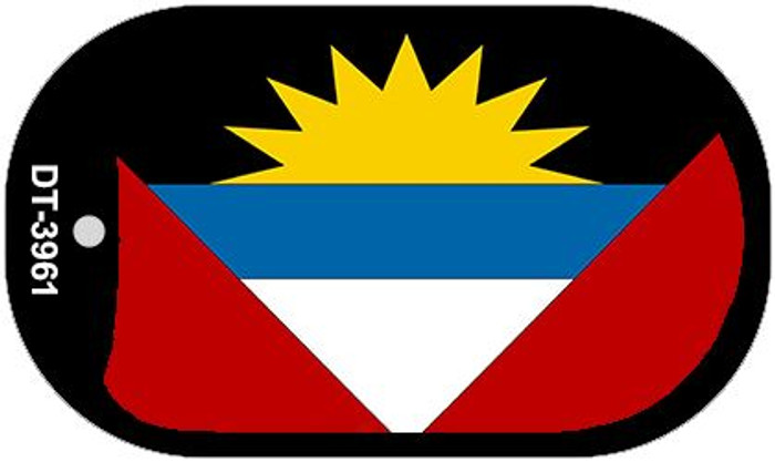 "Antigua Barbuda Flag Country Flag Dog Tag Kit 2"" Wholesale Metal Novelty Necklace"