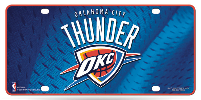 Oklahoma City Thunder Novelty Wholesale Metal License Plate LP-2653