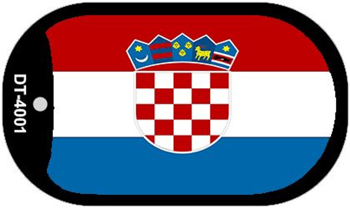 "Croatia Flag Country Flag Dog Tag Kit 2"" Wholesale Metal Novelty Necklace"