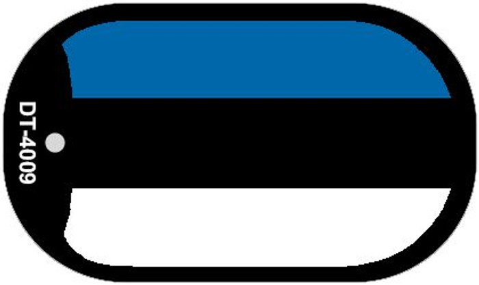 "Estonia Flag Country Flag Dog Tag Kit 2"" Wholesale Metal Novelty Necklace"