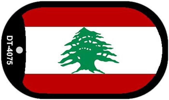 "Lebanon Flag Country Flag Dog Tag Kit 2"" Wholesale Metal Novelty Necklace"