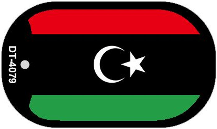 "Libya Flag Country Flag Dog Tag Kit 2"" Wholesale Metal Novelty Necklace"